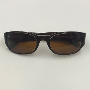 Ralph Lauren Brown Oversized Oval Sunglasses